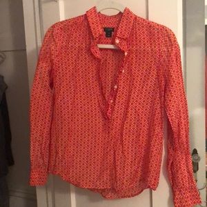 Jcrew patterned blouse